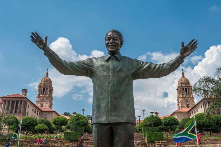 Statue de Nelson Mandela à Pretoria