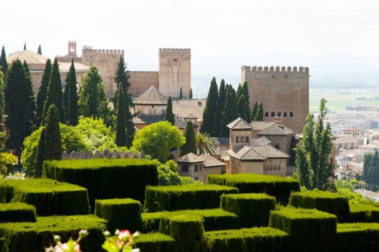 Jardins du Generalife dans l'Alhambra